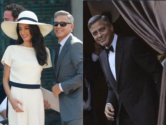 Casamento civil de terno cinza médio e religioso de black-tie